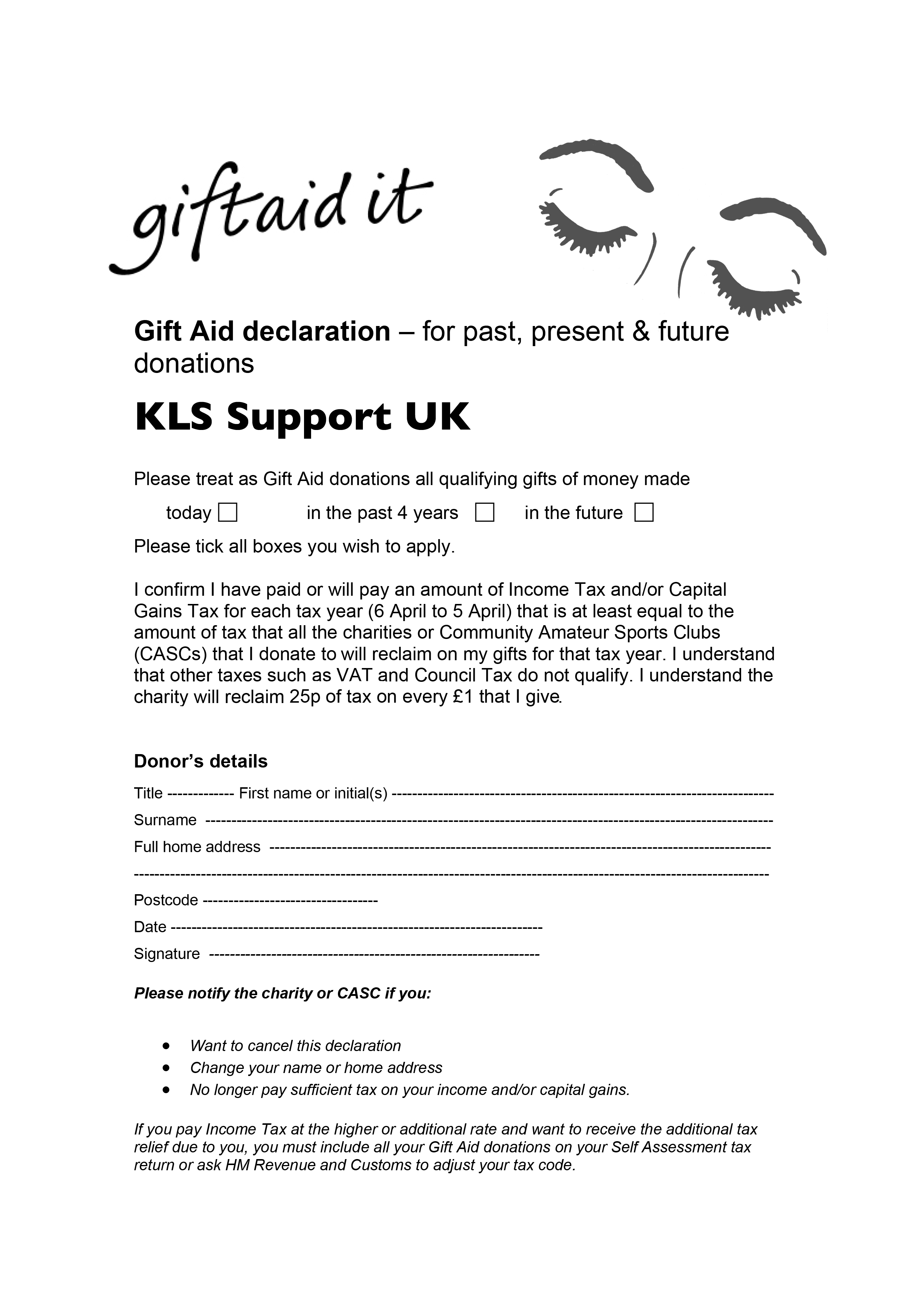 Kls support uk helping families affected by kleine levin syndrome an a4 form can be downloaded negle Image collections