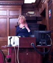 image of Sarah McKimm giving her presentation