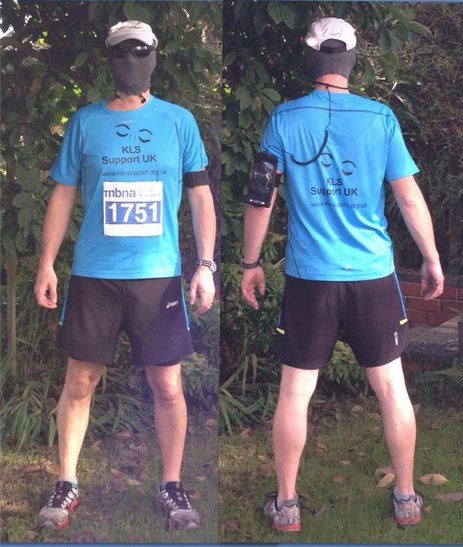 Photo of Jog'on Buddy in his KLS Support UK kit