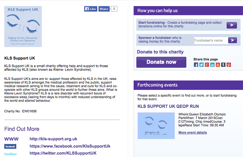 image of mydonate page