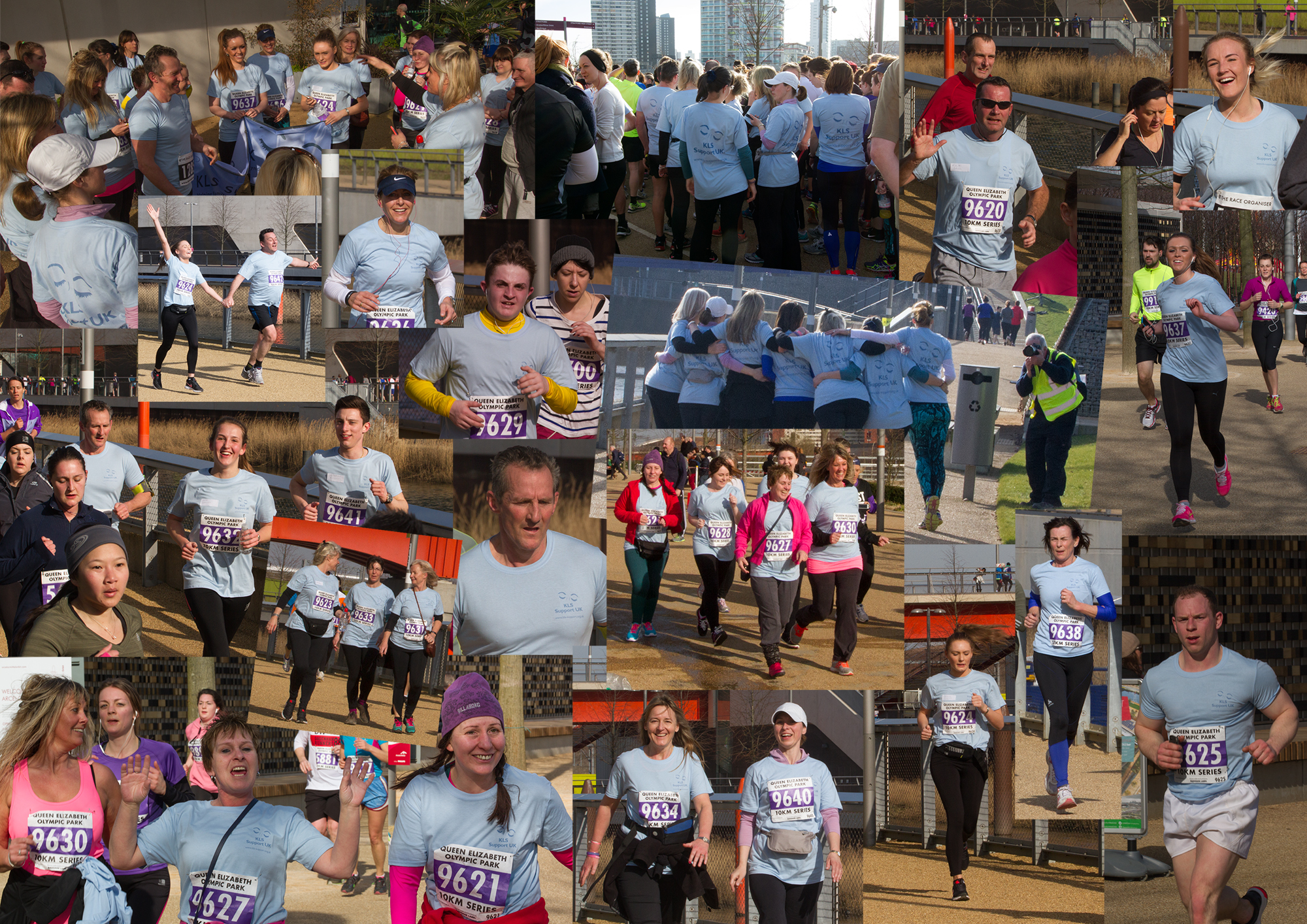 Collage of photos from Saturday's 10k run/walk