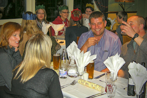 Photo of people at the evening meal