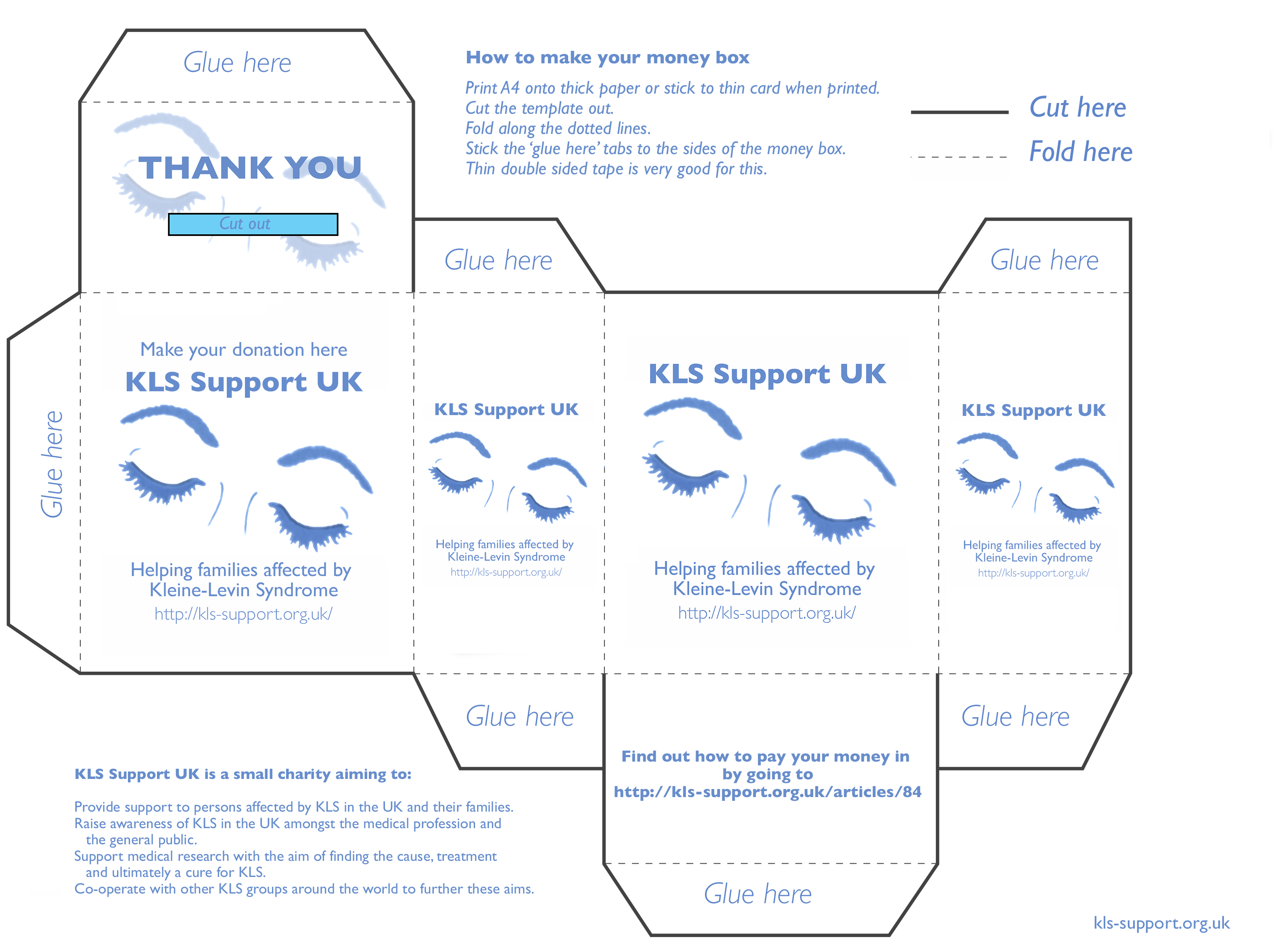 KLS Support UK money box template image